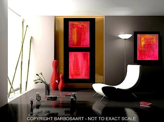 New Red Painting Spring Art Sale - Japanese Sunset (1/4)