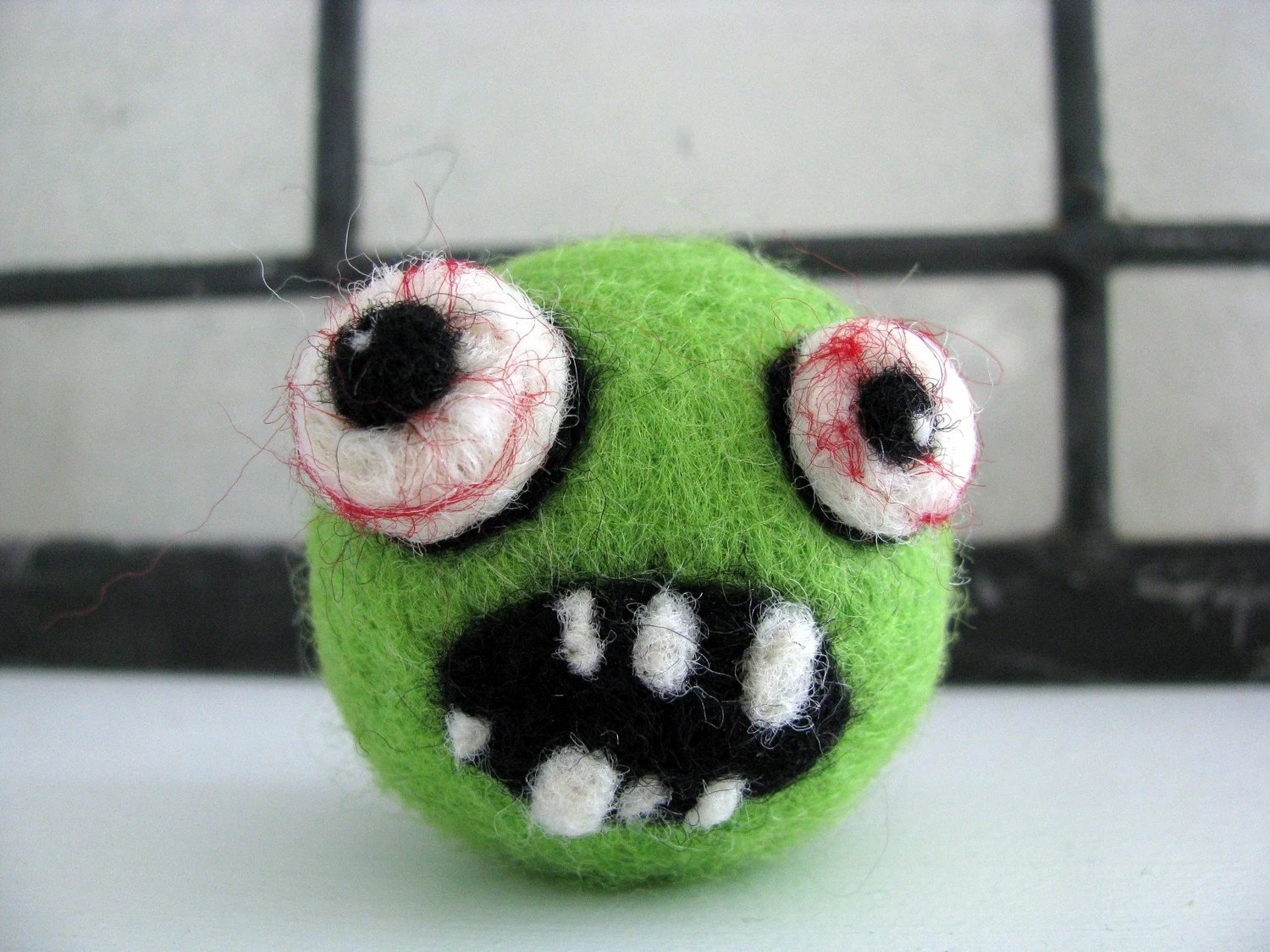 zombie, needle felted, shewhostamps