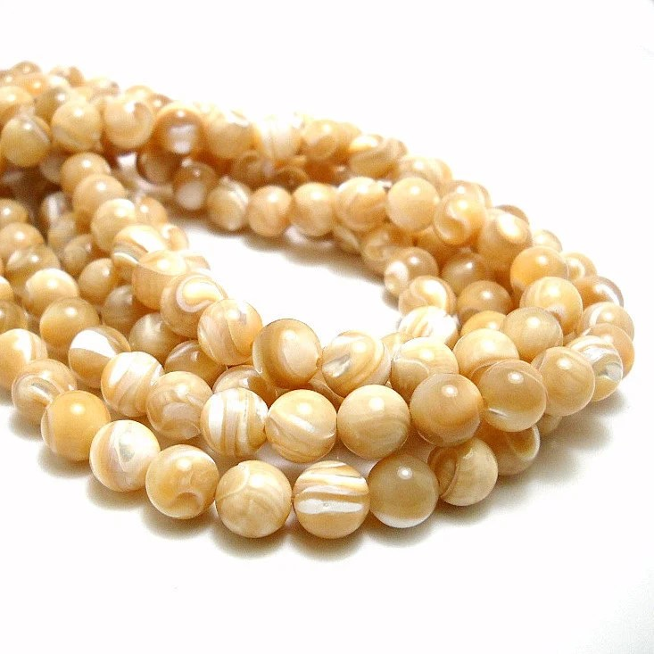 Natural Mother of Pearl Beads