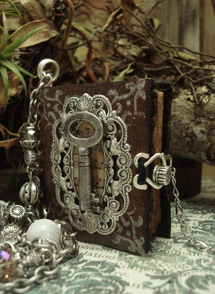 Book Necklace Bohemian