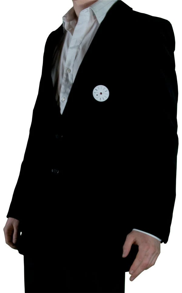 Yves Saint Laurent black velvet upcycled men's steampunk, neo-Victorian blazer
