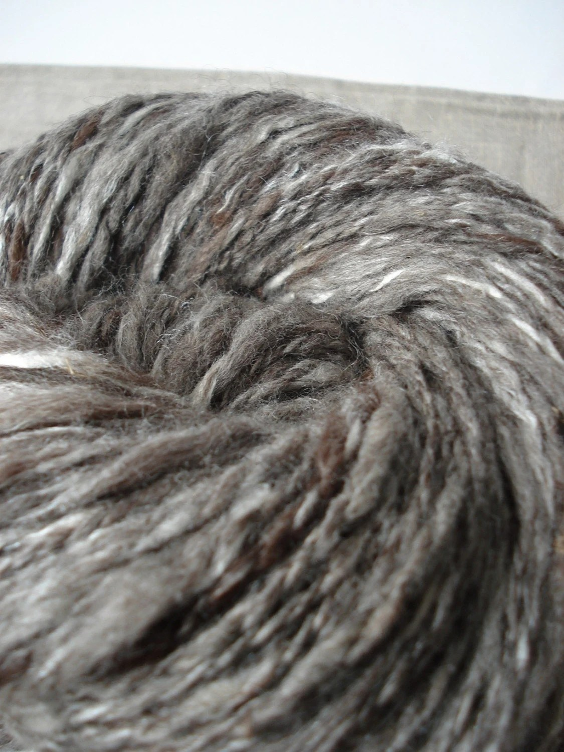 Handspun baby alpaca and silk yarn