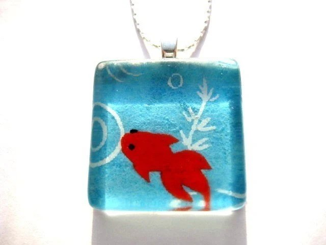 Lucky Fishpond Pendant - $15