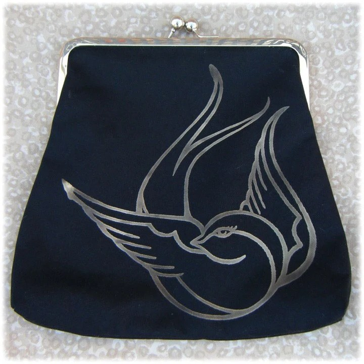 Tattoo Sparrow Purse with Free