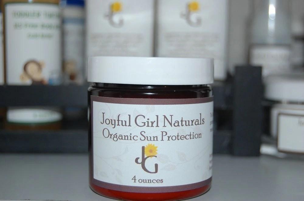 Joyful Girl Naturals Organic Sun Protection Cream