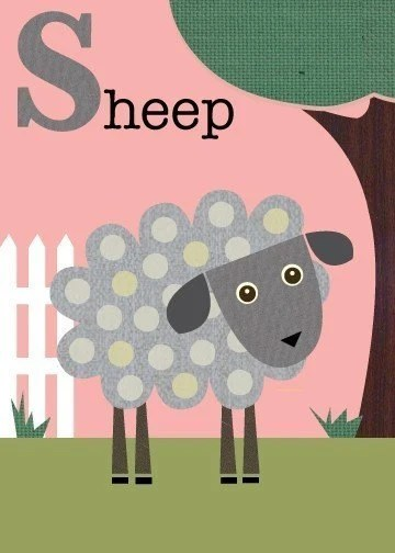 Letter S (sheep)