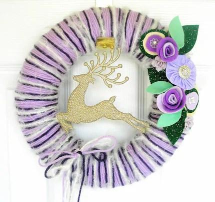 Violet Vixen Yarn Wreath