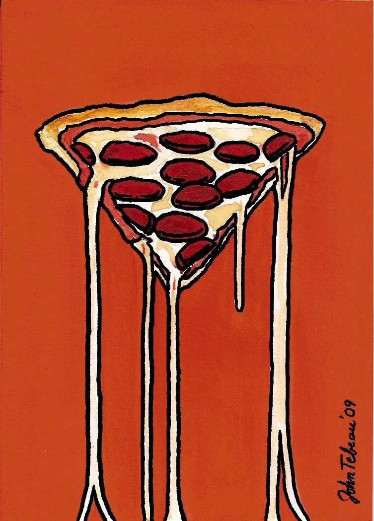 John Teabeau's Double Pepperoni Pizza