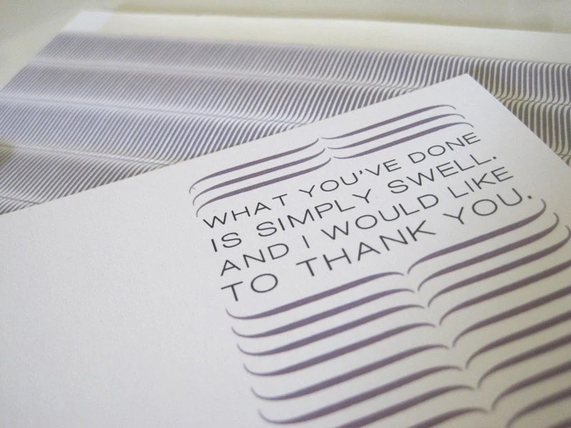 Wave Flat Greeting Card - Thank You