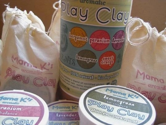 Mama K's Aromatic Play Clay (Gluten Free) Tube of 5 4 oz. tubs