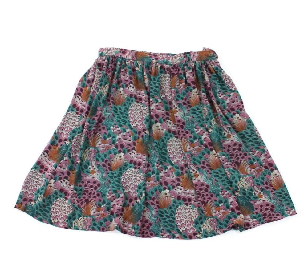 vintage 1970's FEATHER COLLECTOR skirt