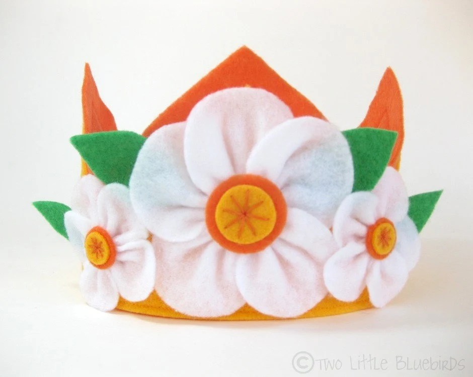 Sunshine and Flowers Felt Crown