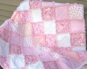 Breast Cancer Awareness Flannel and Minkee Rag Quilt