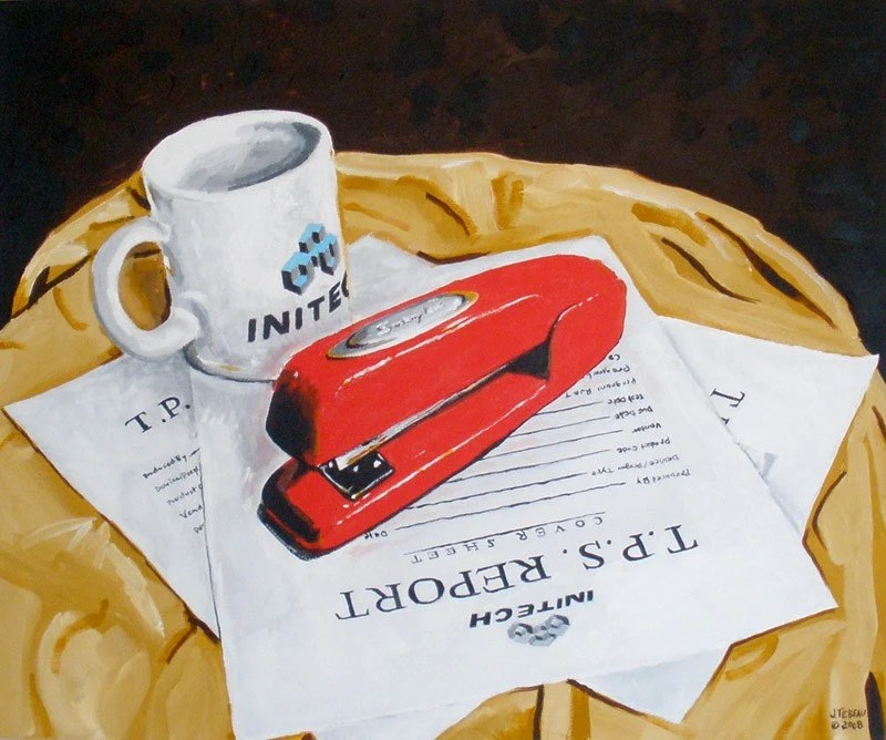 Still Life With Stapler (Office Space), free shipping in USA