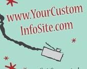 Custom Information Website Design & Build
