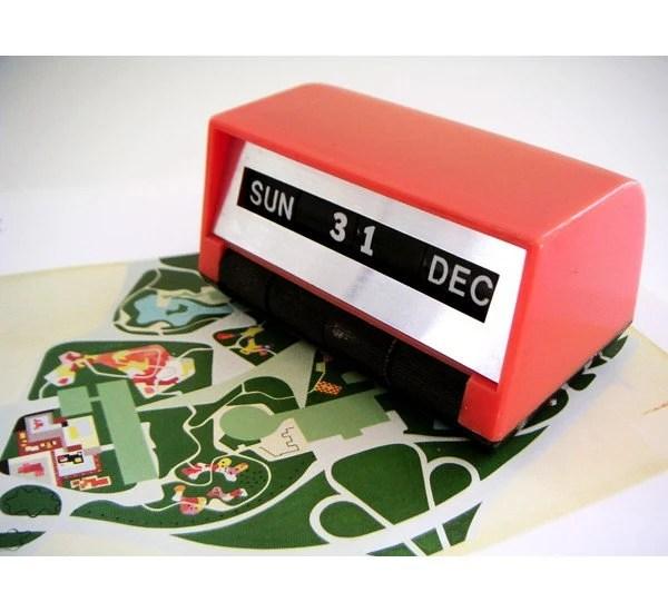 Vintage perpetual calendar - Pink-orange