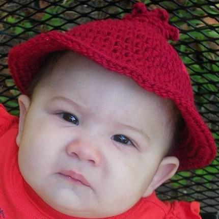 Pomegranate - Sun Hat (3-6 months)