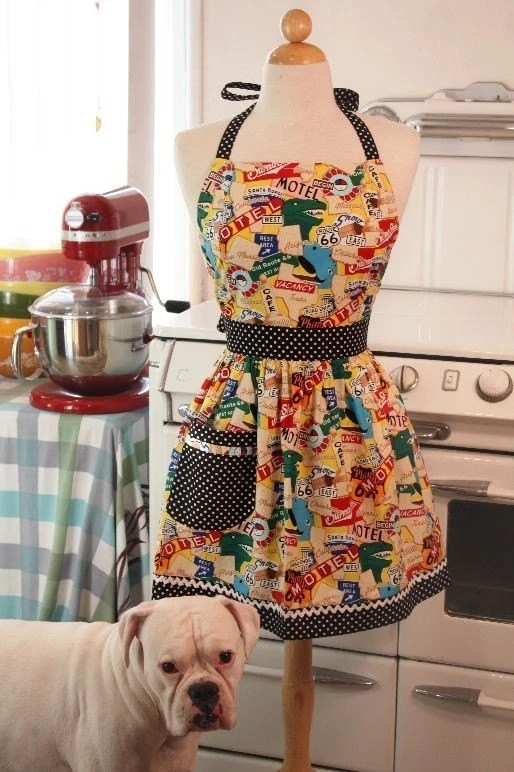 The CHLOE Vintage Inspired Route 66 Road Trip Full Apron