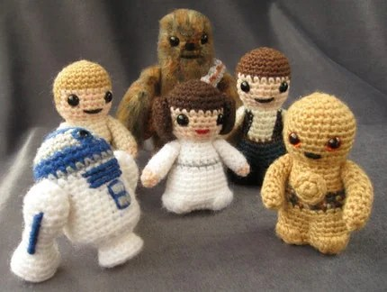 PATTERNS  for Star Wars Mini Amigurumi - Pick any two