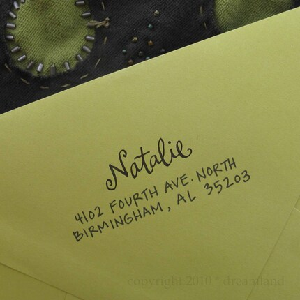 Natalie Address Stamp (Self-inking)