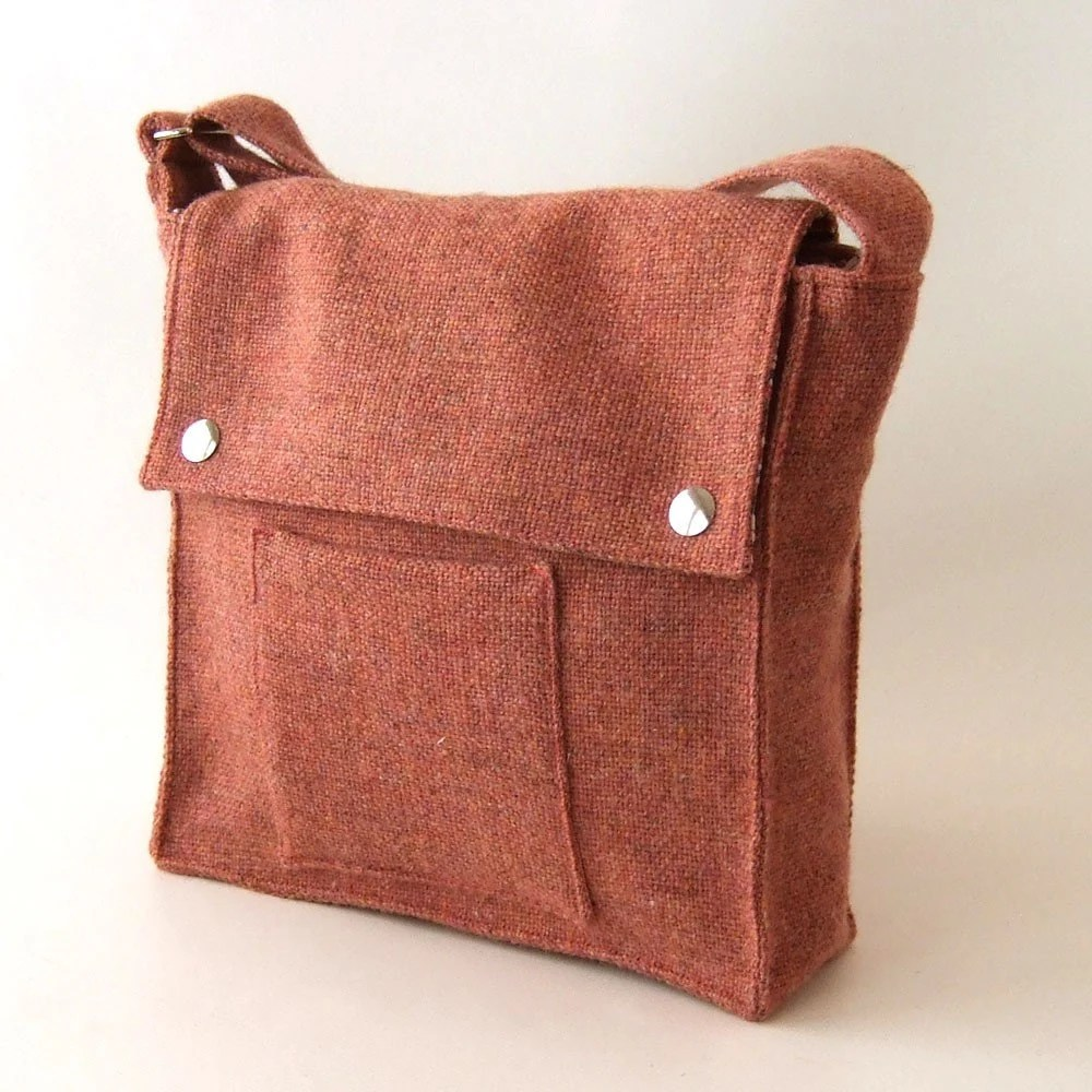 Rose Wool Satchel