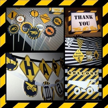 Printable Party Package...DIY Construction..Loads of Fun... by DimplePrints