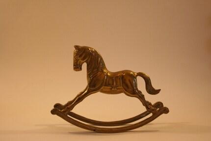 Vintage Gold Rocking Horse