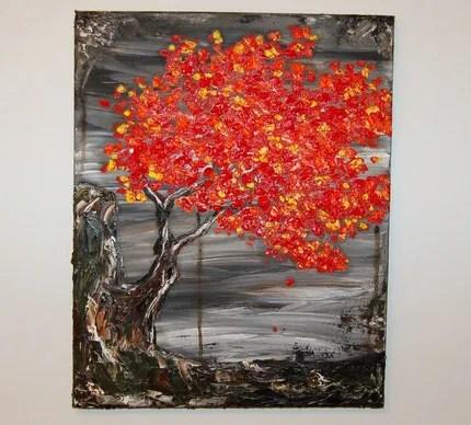 Acacia Fire 4 Original Oil Painting