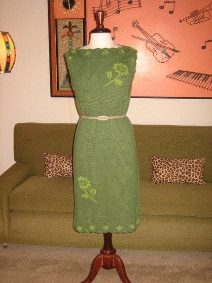 60s Original Knit Sweater Dress