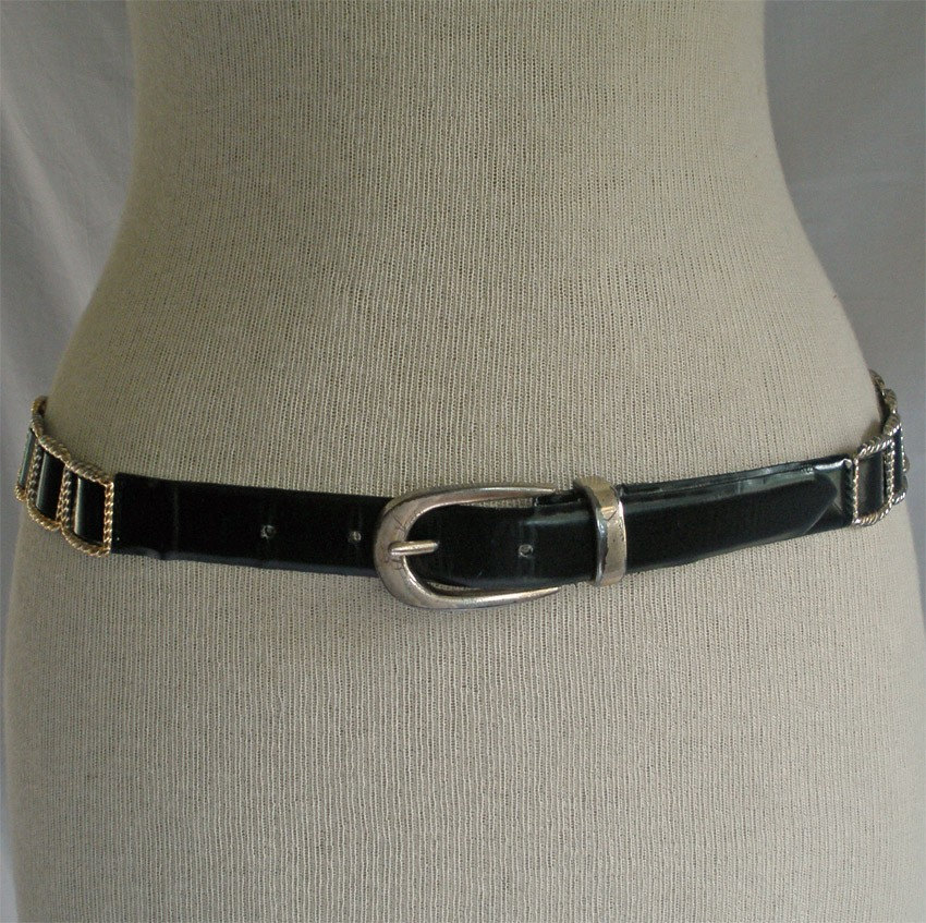 Vintage Black Gold Link Belt