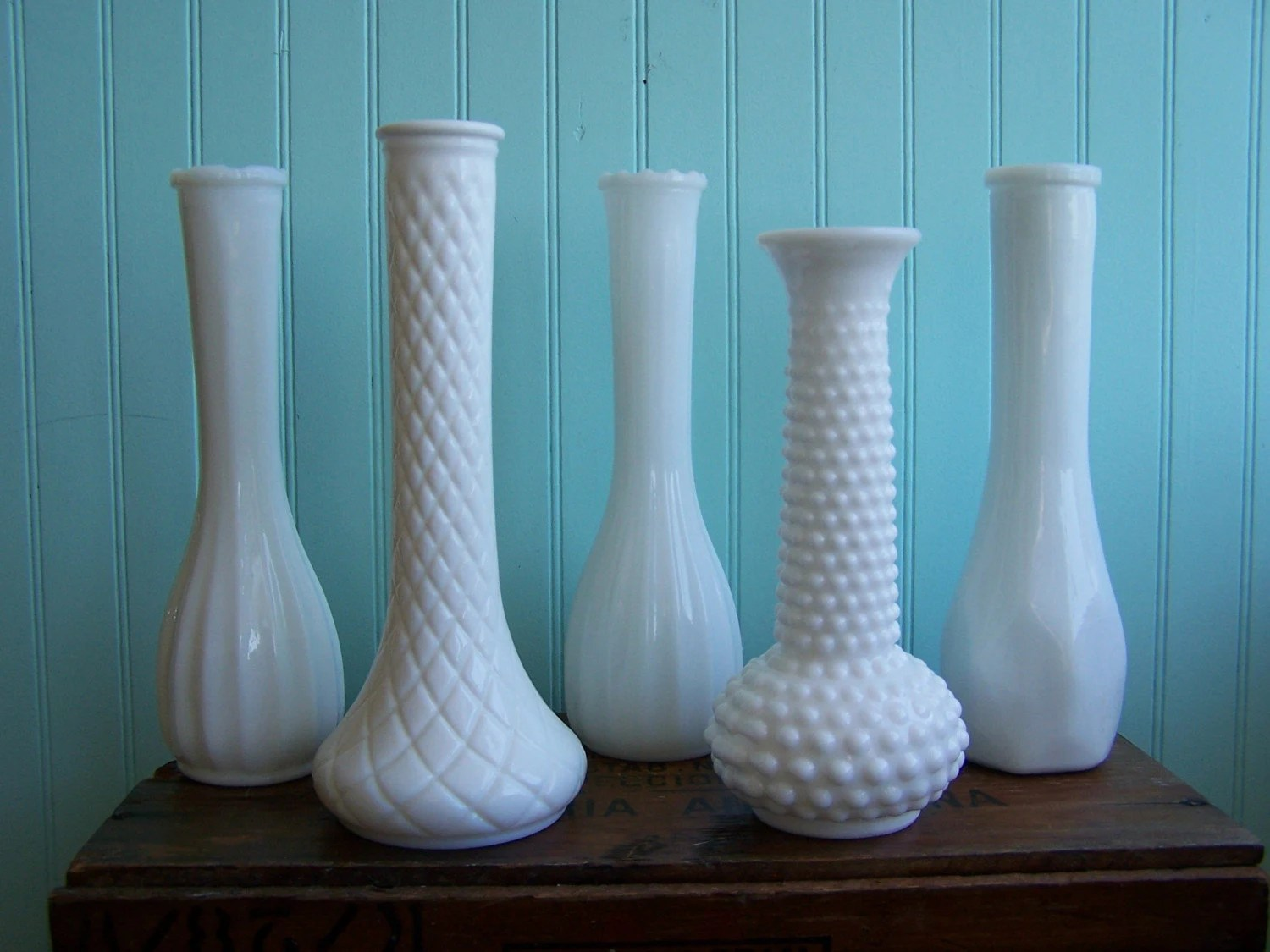 Instant Collection Milk Glass Bud Vases