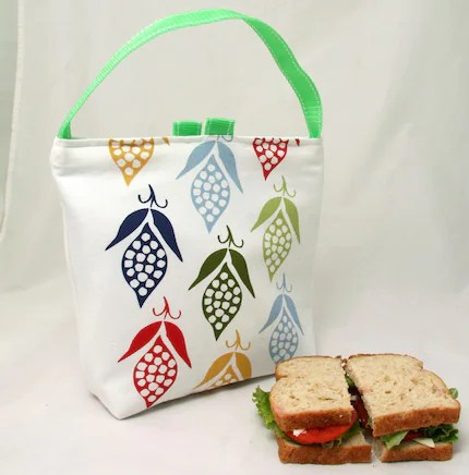 Insulated Lunch Bag - Back to School Pea Pods