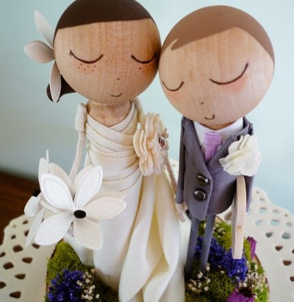Custom Keepsake Wedding Cake Topper with Custom Wedding Dress