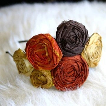 Fall In Love - Silk Rosette Headband Retro/Vintage Style - FALL 2010 Collection