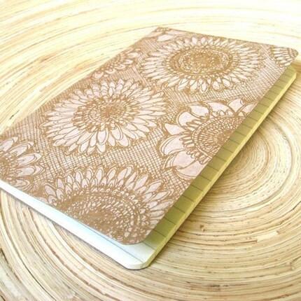 Sunflowers (Gocco Printed Moleskine Cahier Pocket Notebook Journal) Ruled