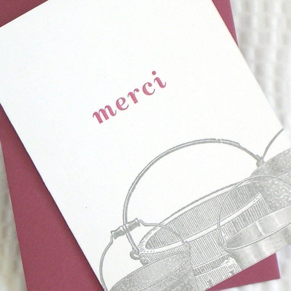 Merci Buckets thank you card by armatodesign