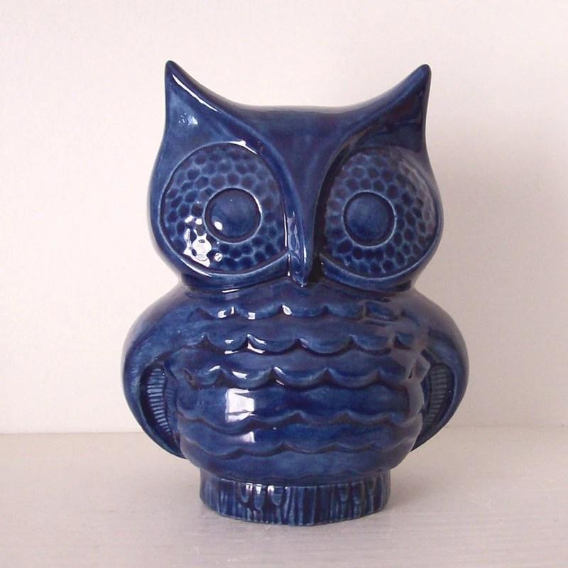 Gufo di ceramica