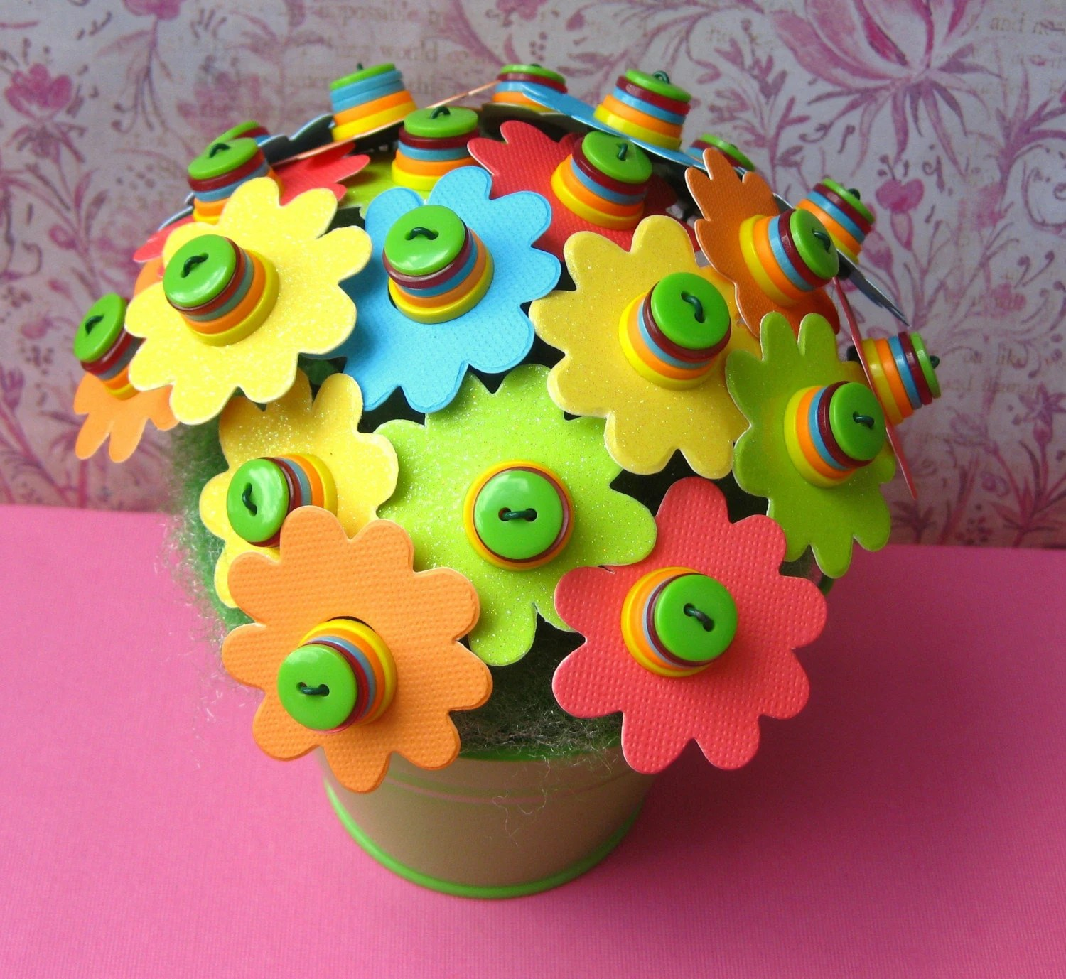 ReallyBadKitty button bouquet $18
