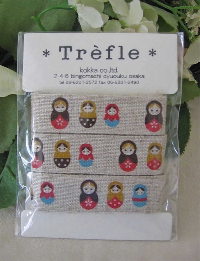 japanese ribbon russian dolls sewing tape