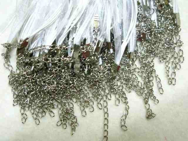 50 18 white ribbon necklaces on Etsy