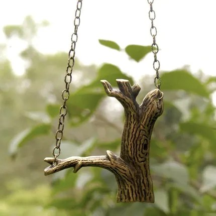 Brass Forest Necklace