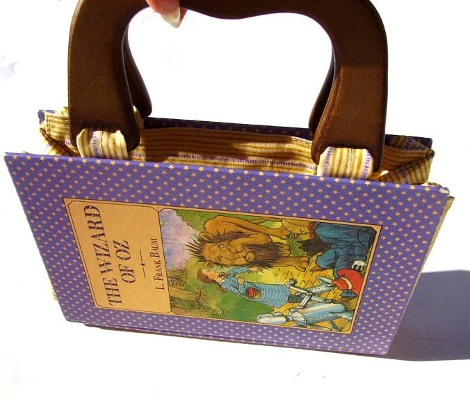 The Wizard of Oz Book Handbag- Purple and Yellow