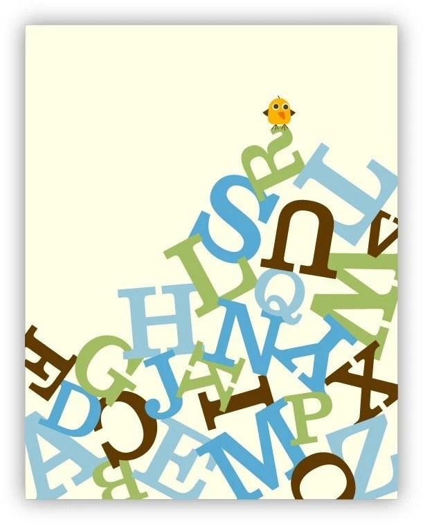 Dizzie Chickie On Alphabet Hill Poster
