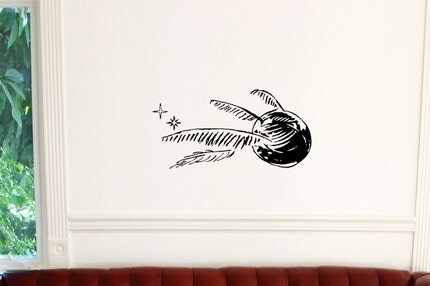 Harry Potter Golden Snitch   Silhouette Wall Art Decal