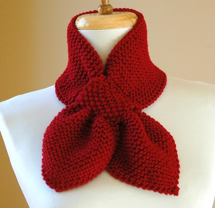 stay put maroon scarf, $31 from phylphil.