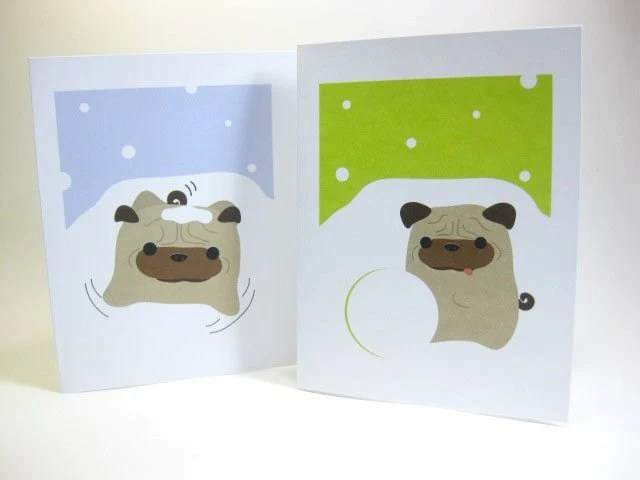 Ball-Z in the Snow Greeting Cards