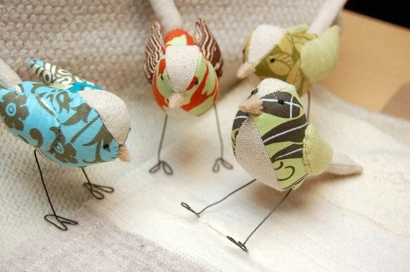 Custom bird sculptures by Laurie Coyle Designs