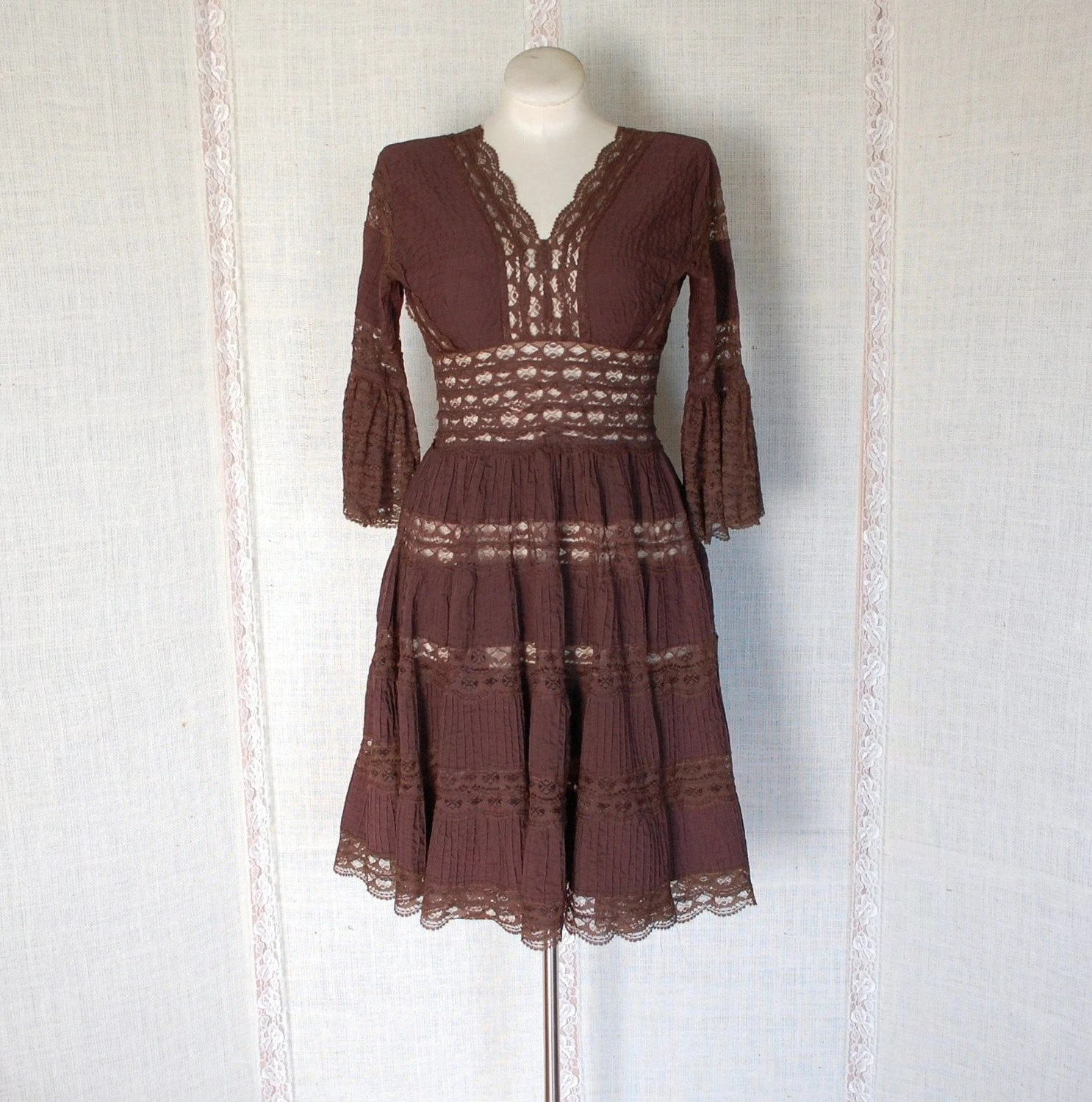 Vintage Mexican Chocolate Dress