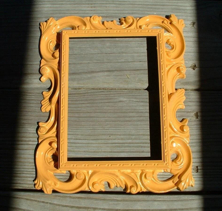 Vintage Baroque Frame - Updated Bauhaus Gold Yellow