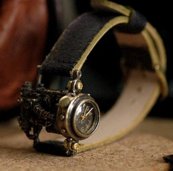 vintage watch MECHTOPIA 1 steampunk timepiece made by hand